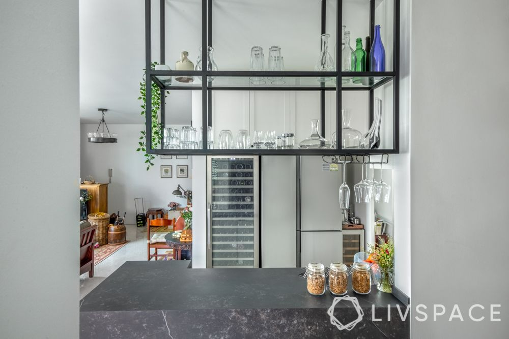 singapore-kitchen-renovation-bar-counter-metal-rack