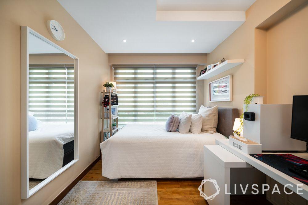 small-bedroom-ideas-decorating-wall-shelves