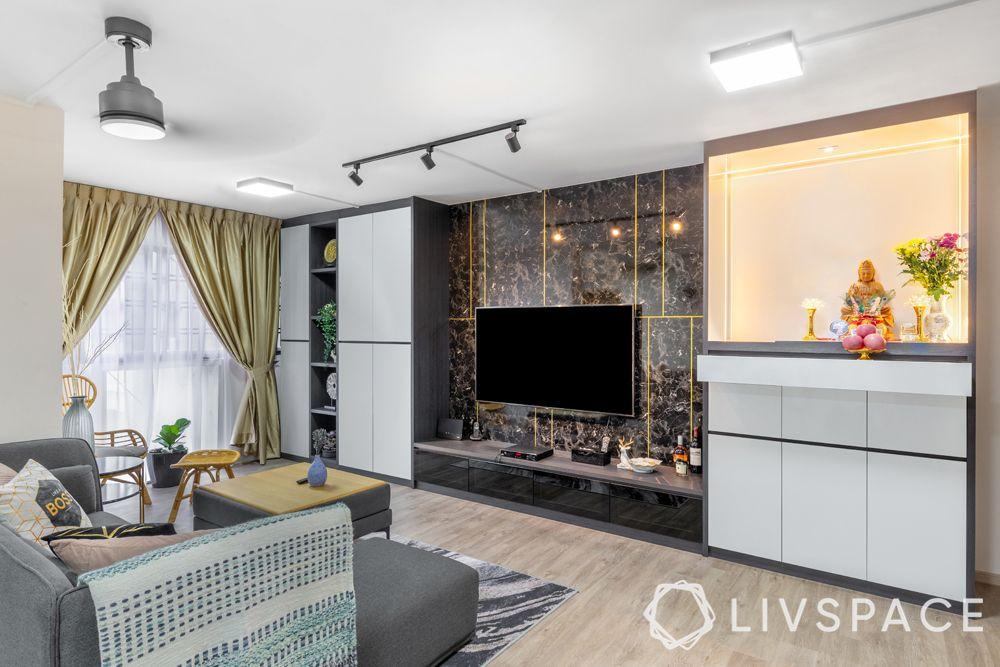 5-room-hdb-renovation-living-vinyl-flooring-track-lights-mount-lights