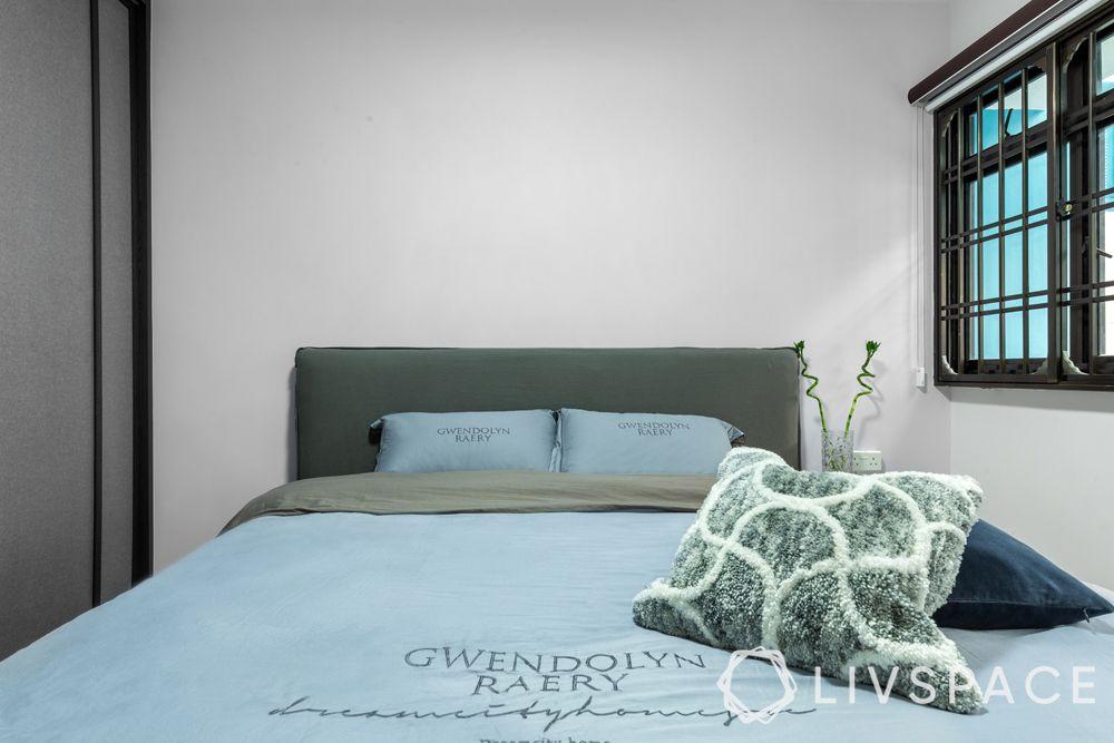 5-room-hdb-renovation-simple-bed-plain-white-wall