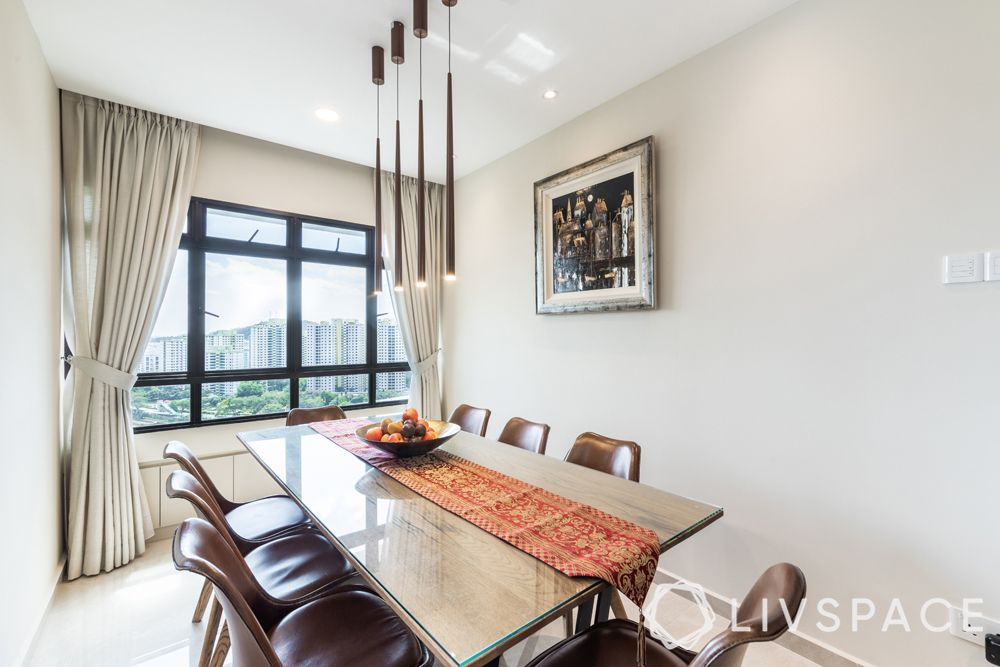 resale-hdb-dining-room-pendant-lights-wooden-table