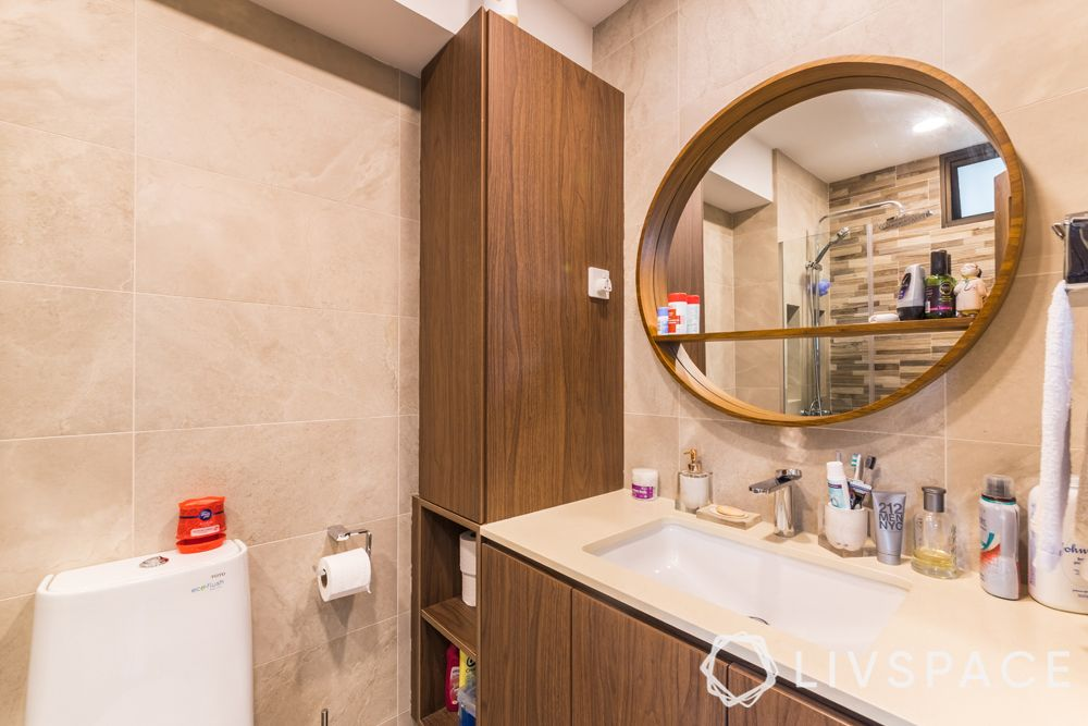 resale-hdb-bathroom-vanity-round-mirror