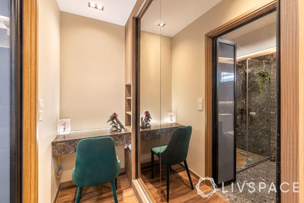 bto-renovation-master-bedroom-dresser-green-upholstered-chair
