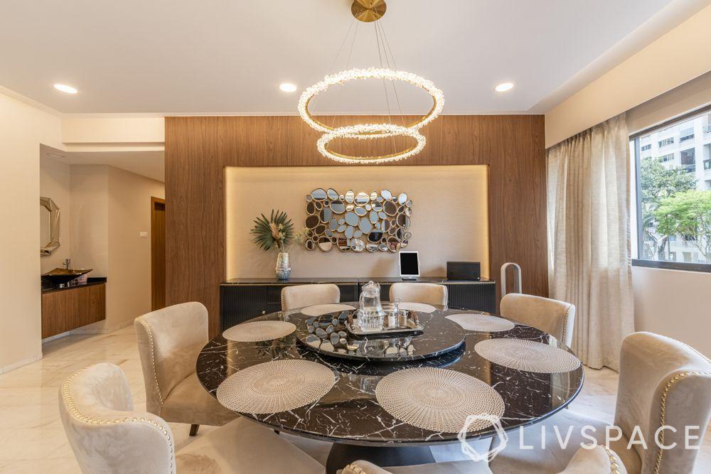 modern-interior-design-dining-room-table-mirror-contemporary-chandelier