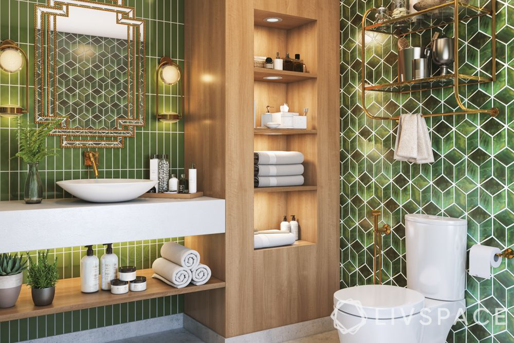 bathroom-tiles-green-tiles-combination