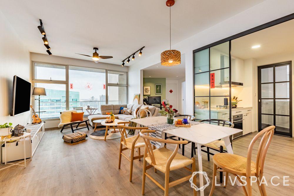 3-room-renovation-living-dining-wooden-flooring-track-lights