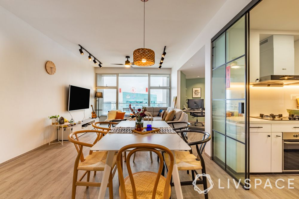 3-room-renovation-dining-room-wooden-chairs-drum-pendant
