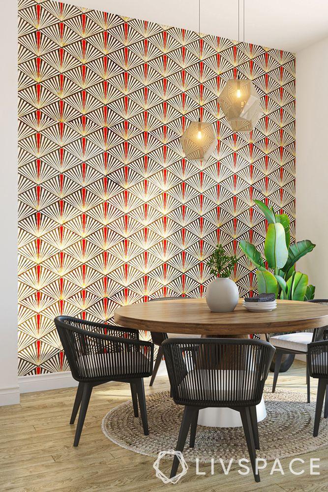 feature-wall-wallpaper-geometric-pattern