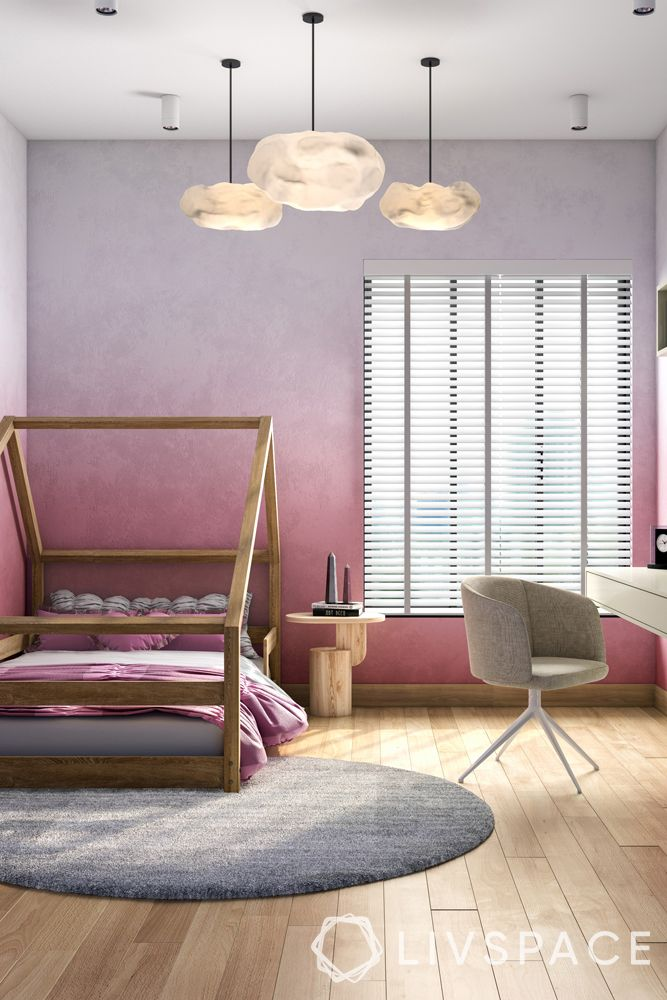 feature-wall-ombre-colour-pink-grey-wall-paint