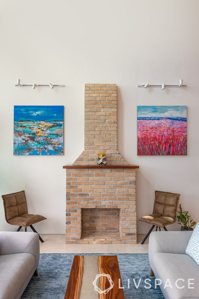 condo-interiors-living-room-faux-brick-fireplace