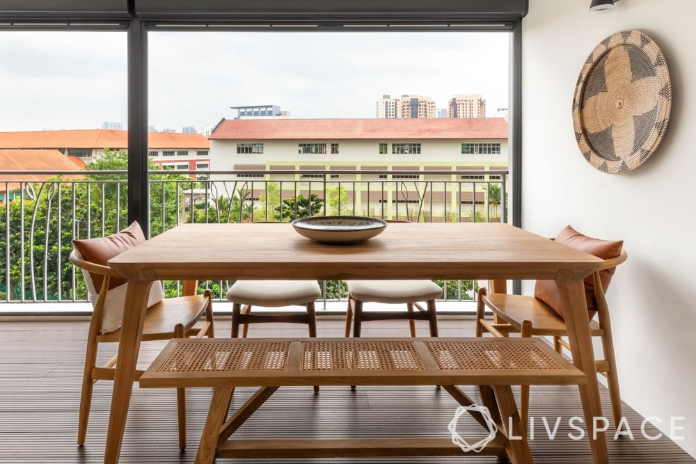 dining-room-design-balcony-wooden-dining-table-set