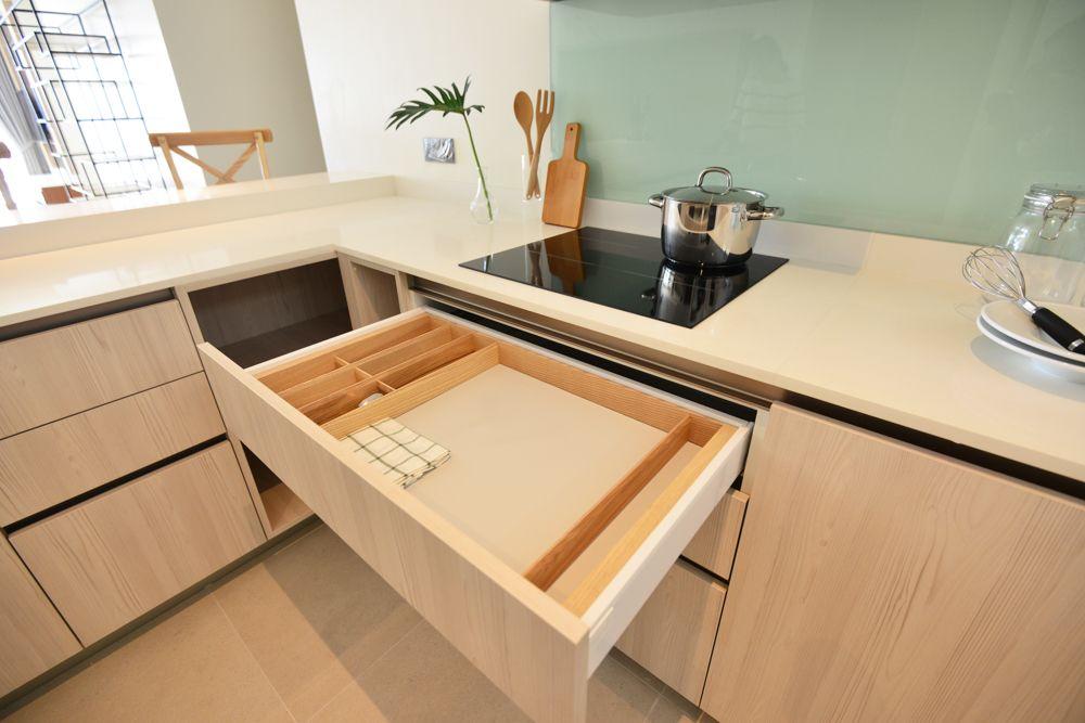 small-kitchen-ideas-hidden-worktop-drawer