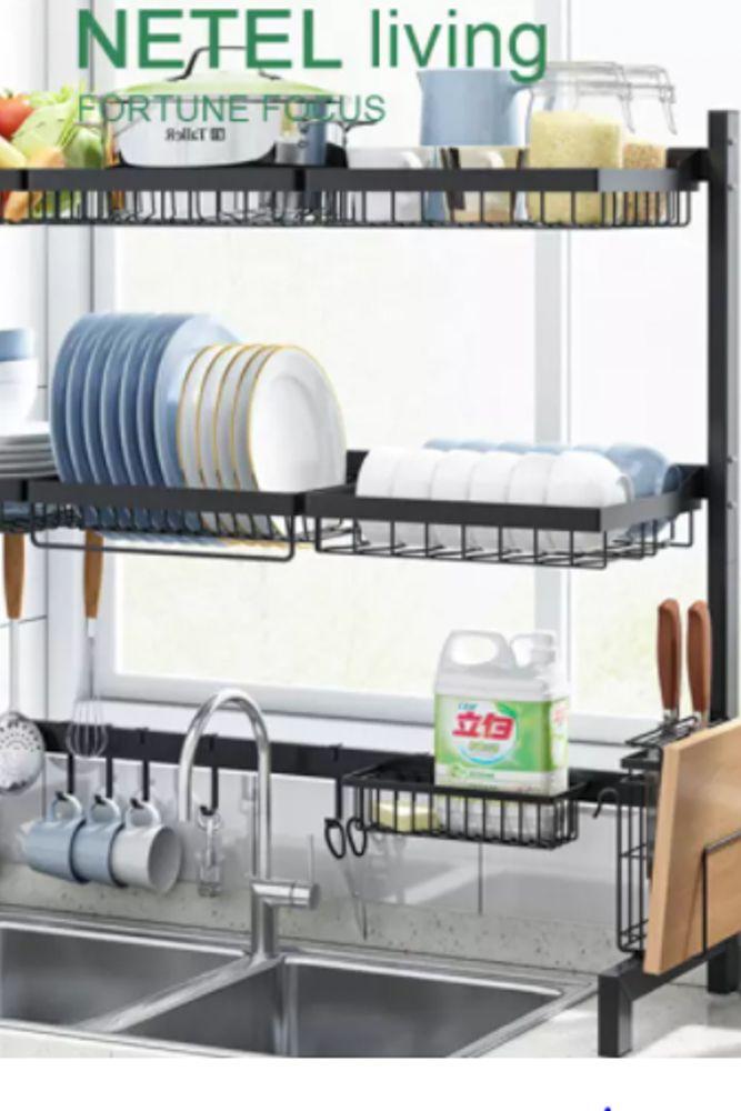 small-kitchen-ideas-over-sink-dish-dryer