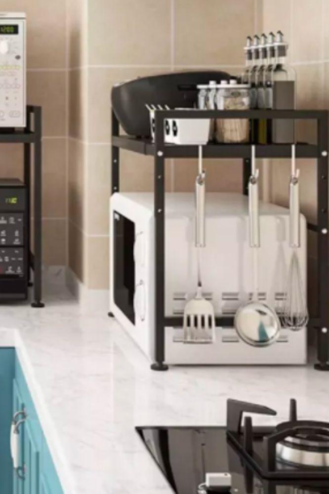 small-kitchen-ideas-microwave-oven-shelf