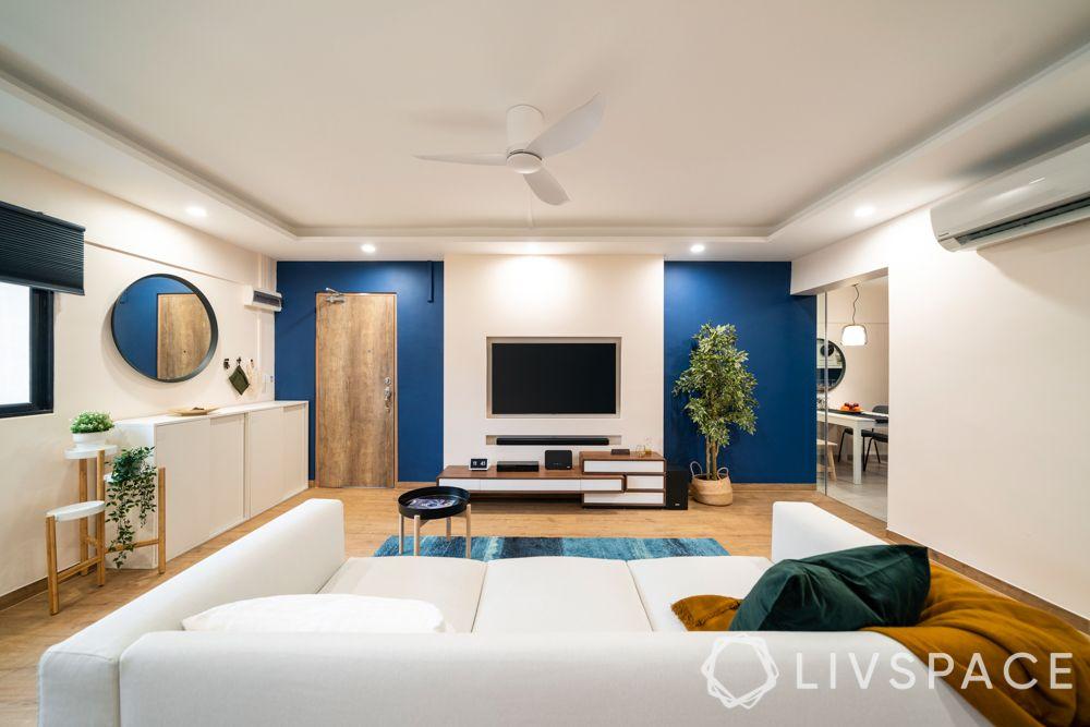 condo-living-room-design-paint-colour-wall-blue