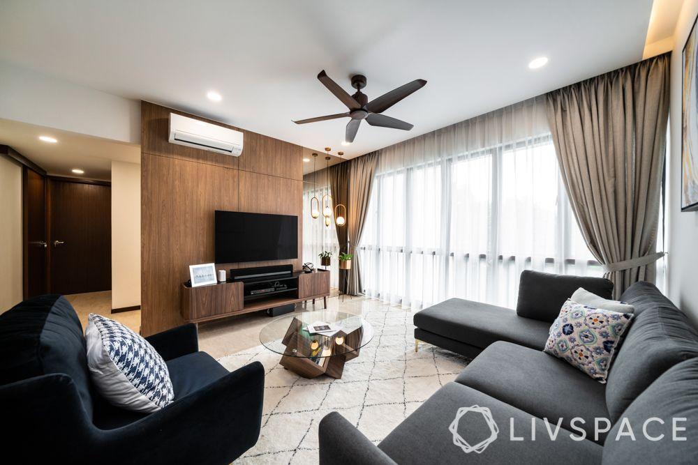 condo-living-room-design-layered-drapes-sheer-curtains