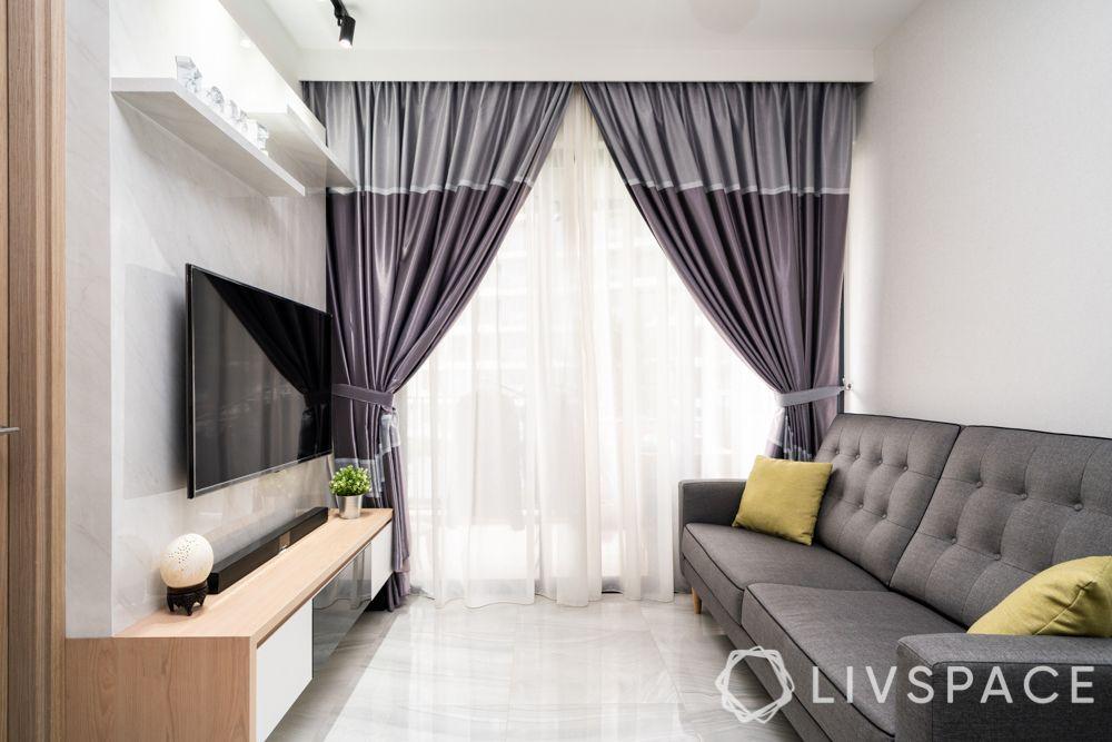 condo-renovation-singapore-living-room-scandinavian-grey-sofa-curtains