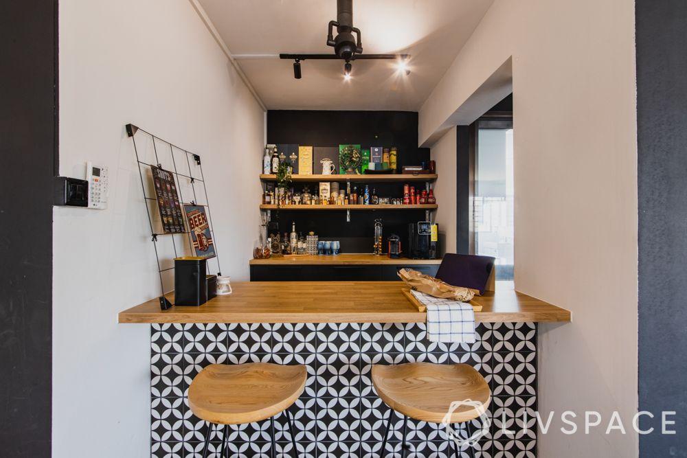 3gen-flats-breakfast-counter-patterned-tiles-wooden-top-stools