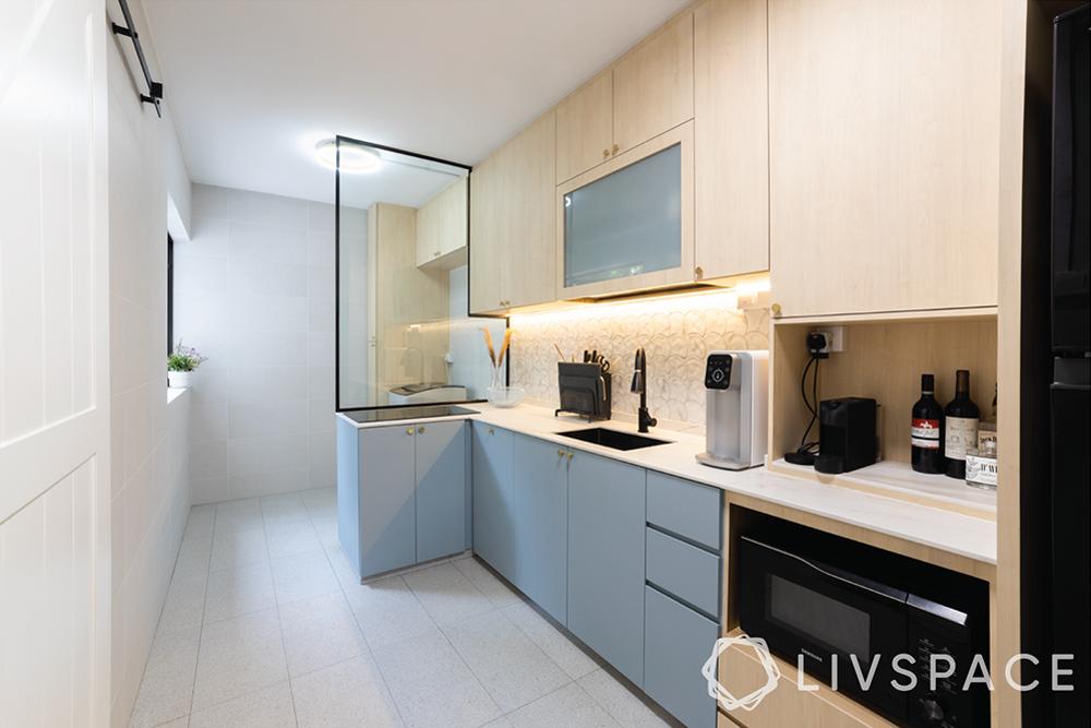 kitchen-interior-design-scandinavian-blue-cabinets-built-in-appliances
