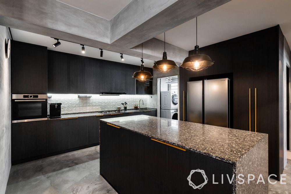 kitchen-interior-design-industrial-cement-screed-beam-granite-island