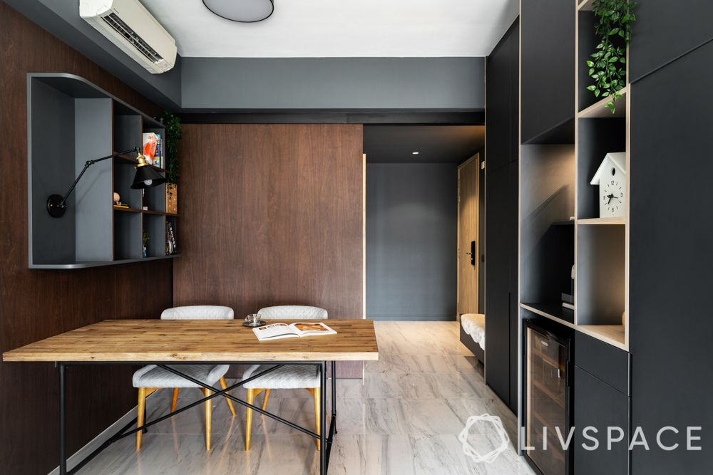 home-office-ideas-utility-room-wooden-table-laminate-shelves
