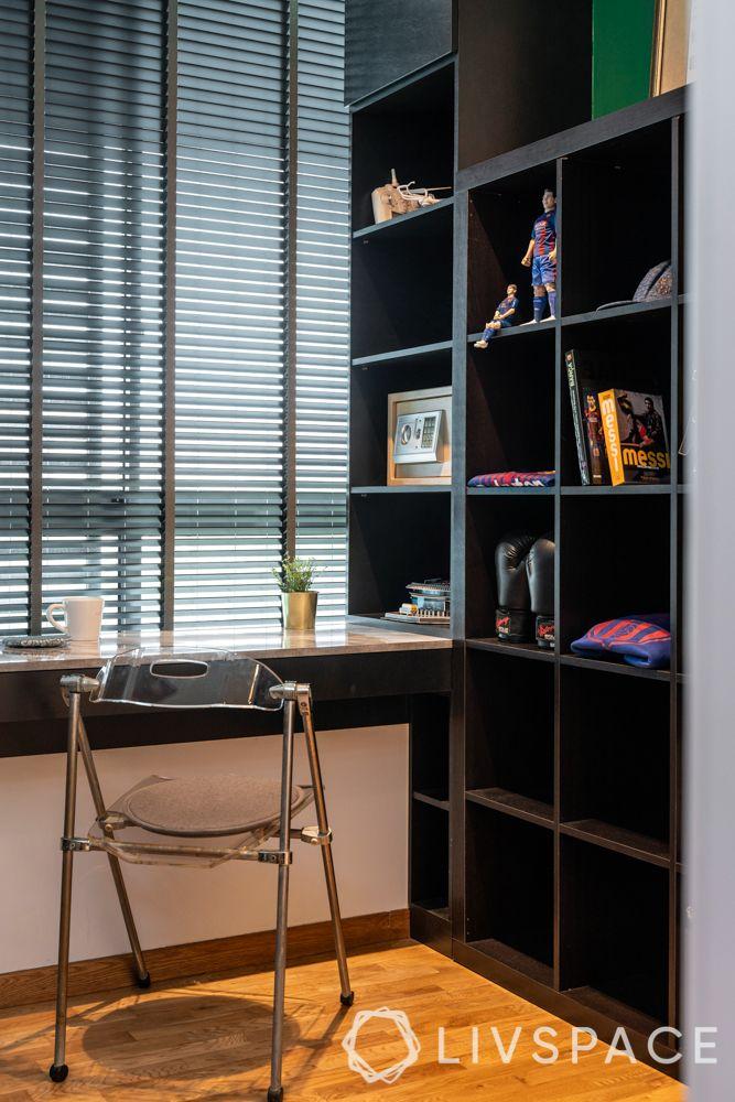 home-office-ideas-makeshift-corner-workstation-transparent-chair