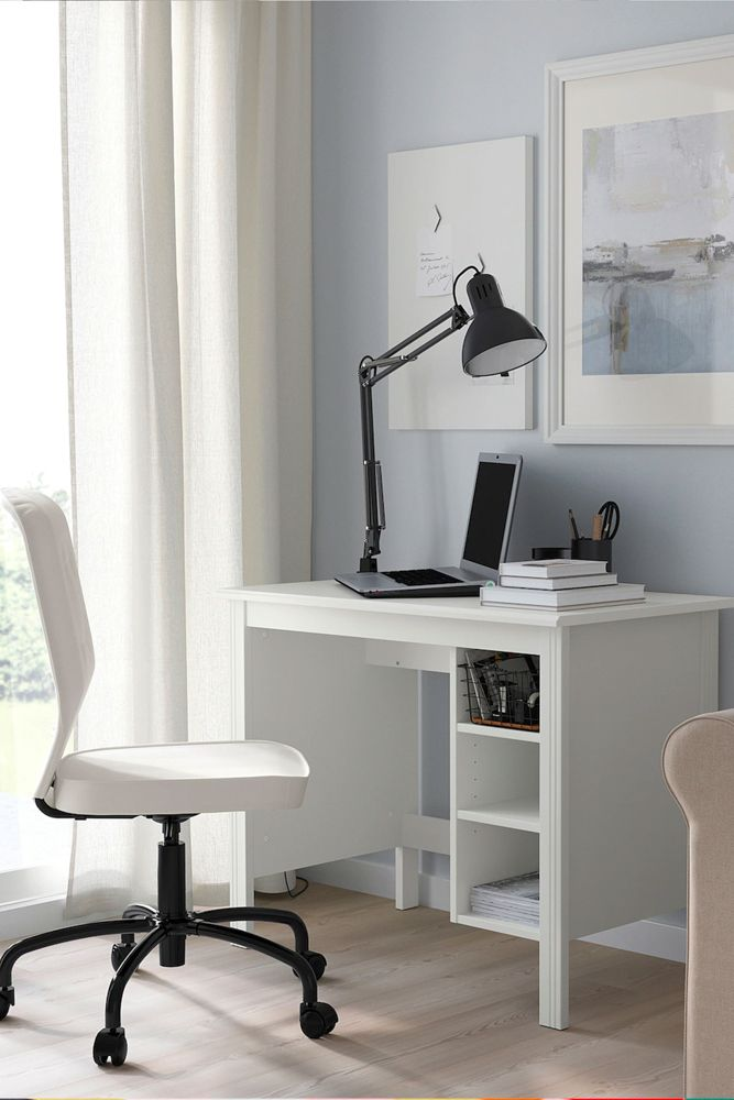 home-office-ideas-ikea-white-brusali-study-desk-storage