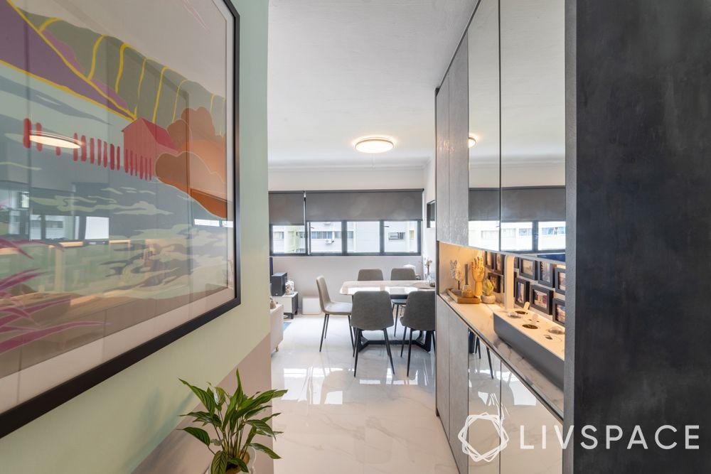 3-room-resale-flat-foyer-corridor-mirror-cabinets