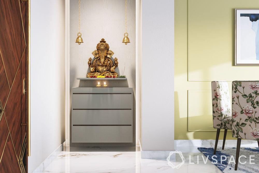 pooja-room-design-wall-niche-minimal-wooden-panels
