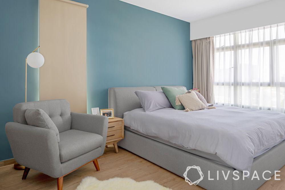 scandinavian-bedroom-cool-colours-aqua-blue-grey-wooden-flooring