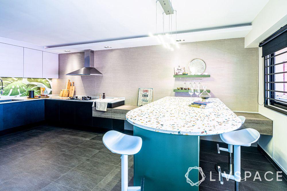 open-concept-kitchen-hdb-big-blue-white-island-leaf-motives-backsplash