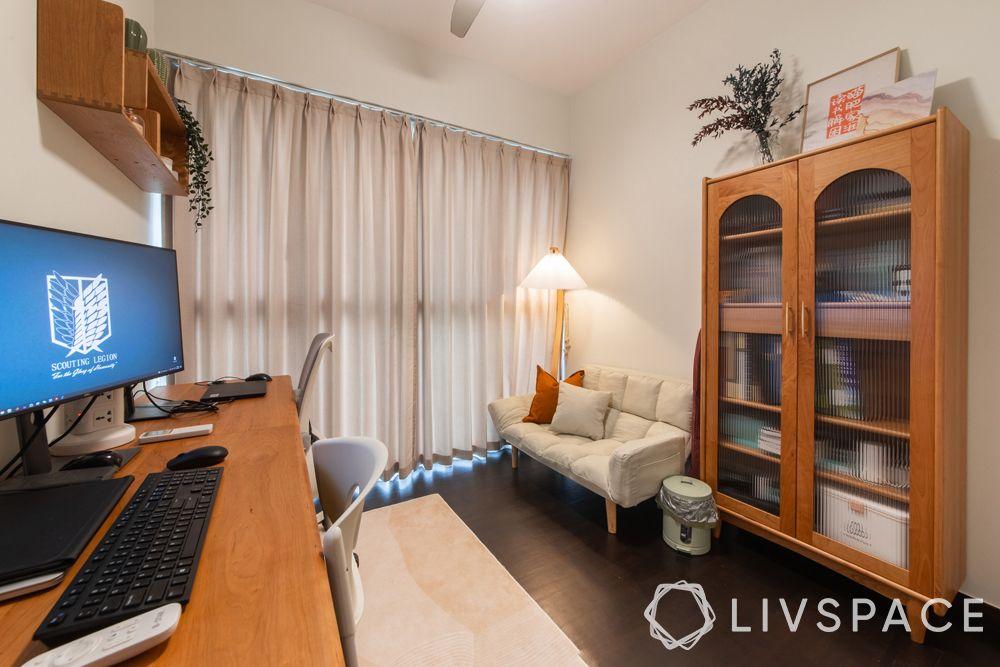 small-condo-design-ideas-study-white-sofa-wooden-desk-cabinet