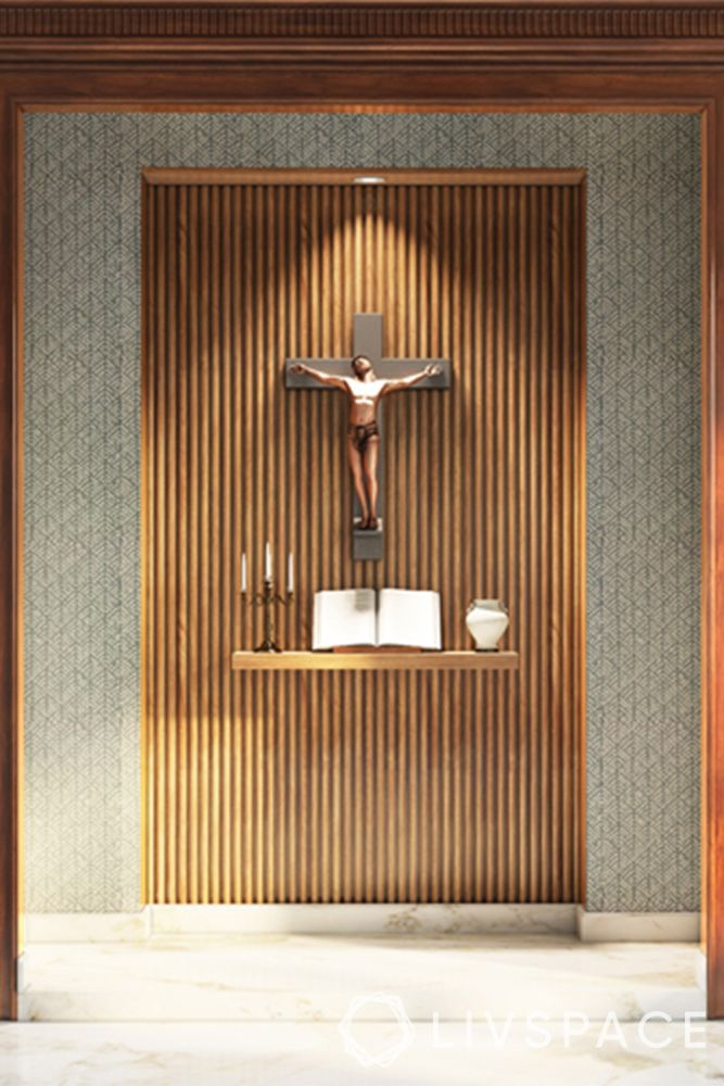 catholic-home-altars-wall-niche-wooden-panelling-wall-ledge