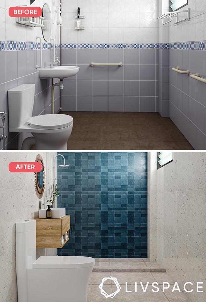 renovate-a-bathroom-highlighter-blue-tiles-shower-cubicle