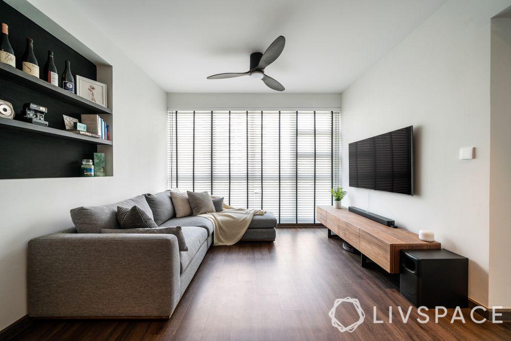 minimal-interior-design-wooden-flooring-grey-sofa-blinds