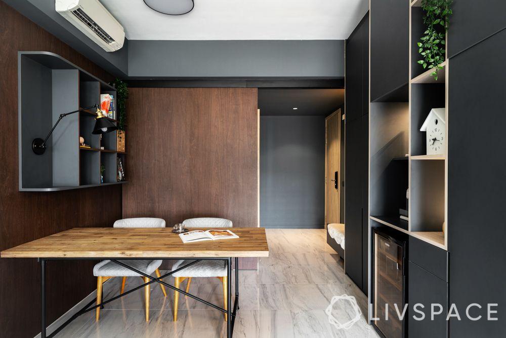 study-room-designs-minimal-grey-floating-shelf-wooden-desk