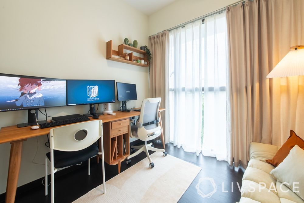 study-room-designs-long-wooden-desk-dark-wood-flooring-reading-nook