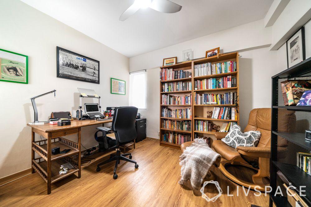 study-room-designs-wooden-book-shelf-beige-recliner