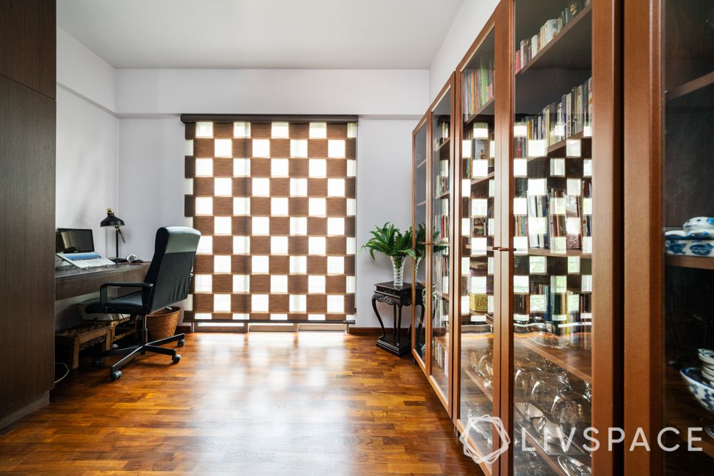 study-room-designs-wooden-cabinet-polished-parquet-flooring