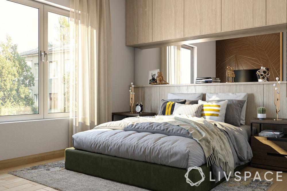 wabi-sabi-style-functional-bedroom-niche-storage-mirror-panel