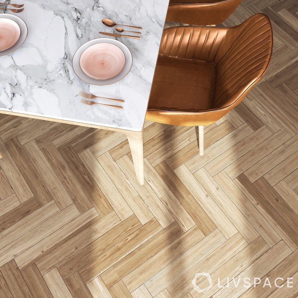 Vinyl flooring-herringbone-hardwood-pattern
