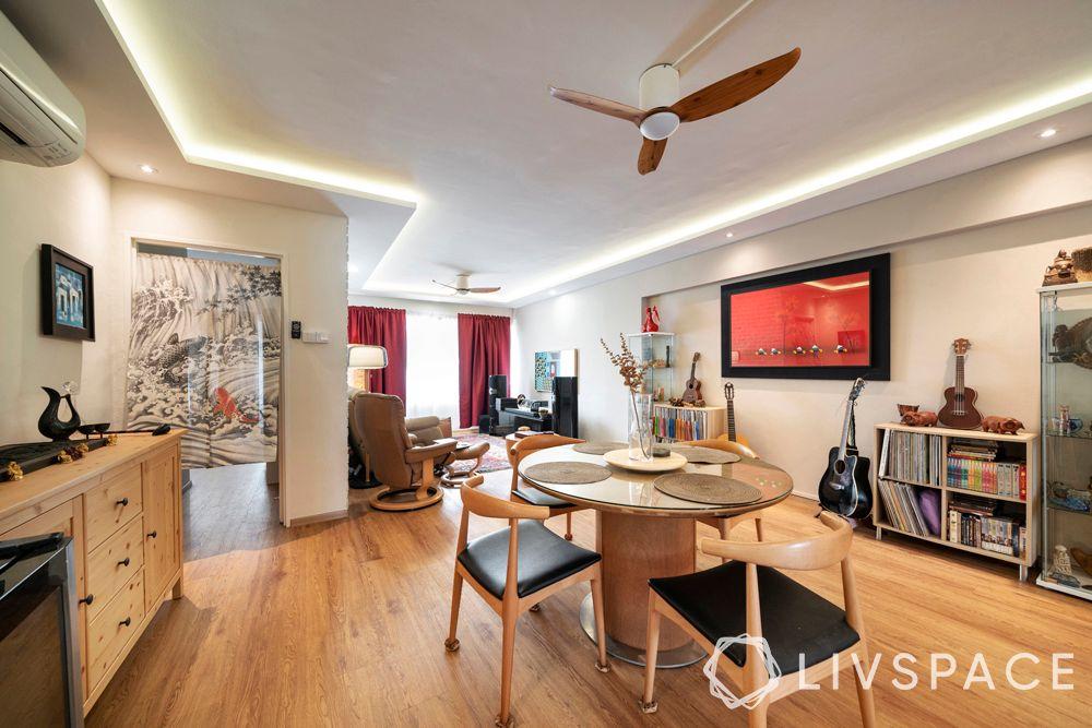 Vinyl-flooring-natural wood texture-living-room