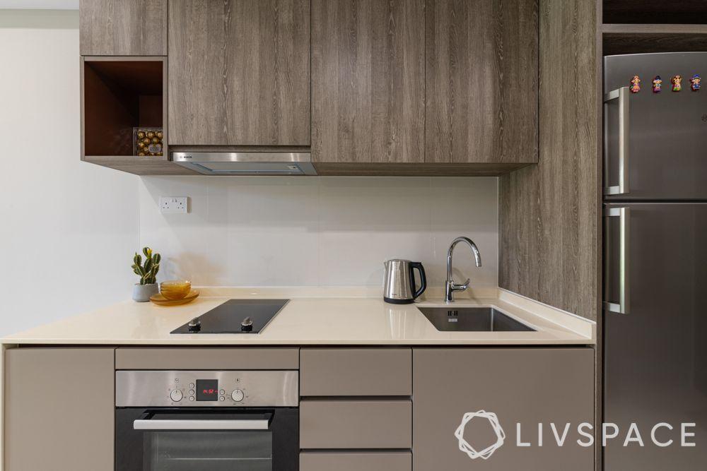 small-condo-renovation-ideas-kitchen-brown-cabinets-shelves
