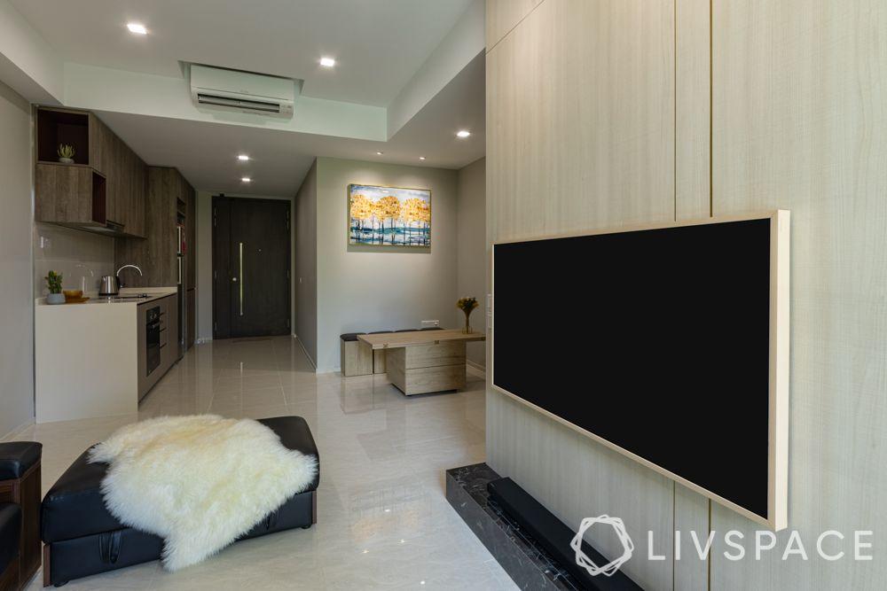 small-condo-renovation-ideas-living-room-Tv-unit-dining-table-kitchen