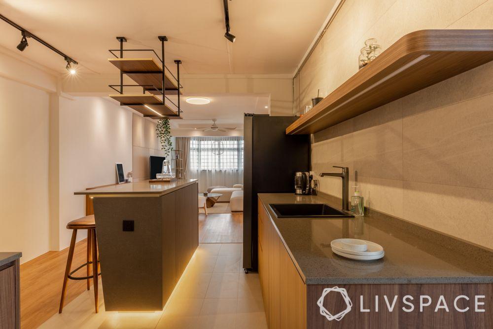 kitchen island design-classic kitchen-parallel island counter