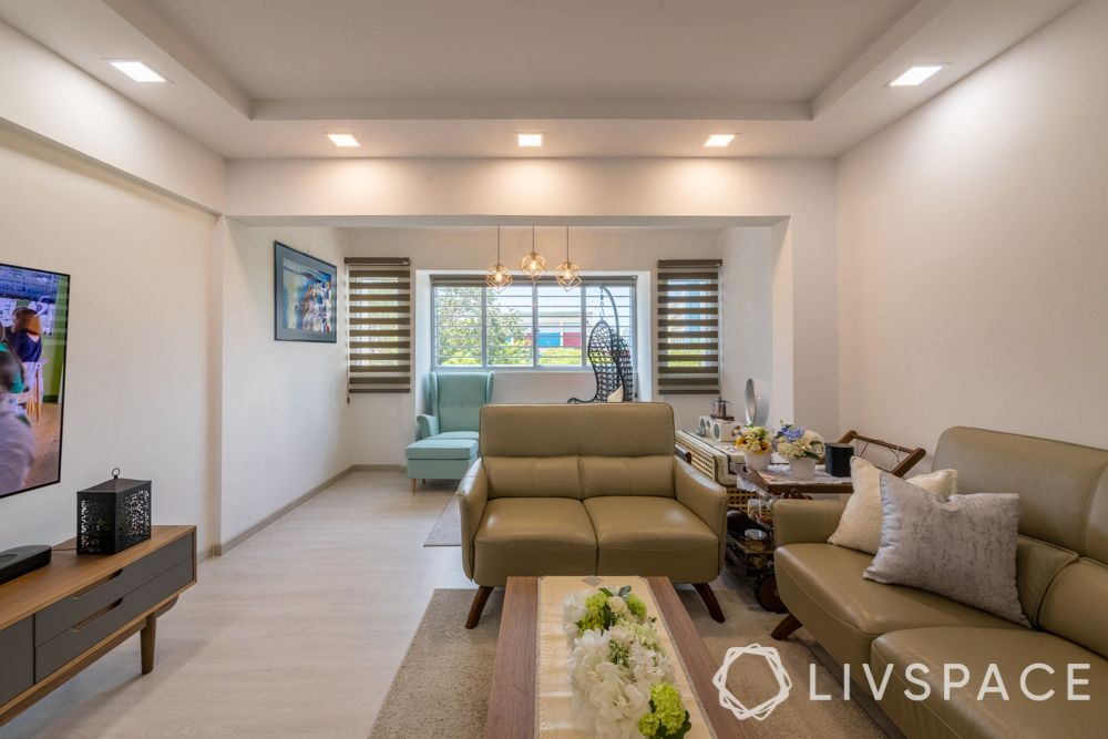 hdb maisonette-leather couch-large room