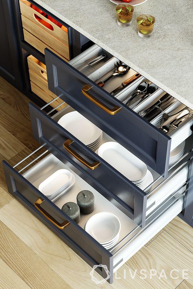 kitchen-orgainzer-open-drawer-black-wood-finish-marble-top