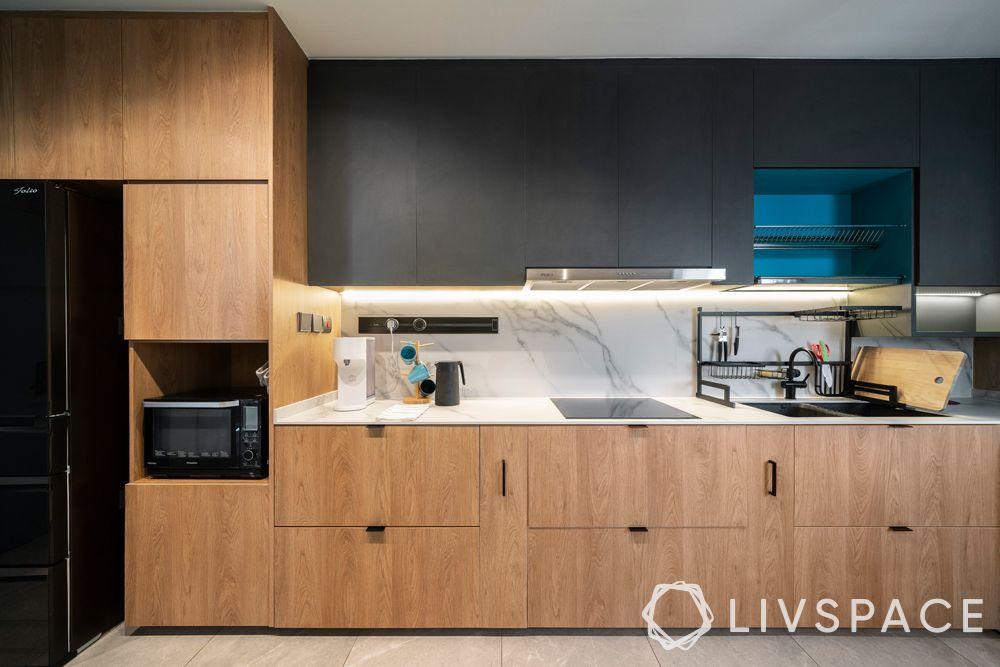 modern-kitchen-design-pop-colour-blue-open-shelf-laminate-cabinets