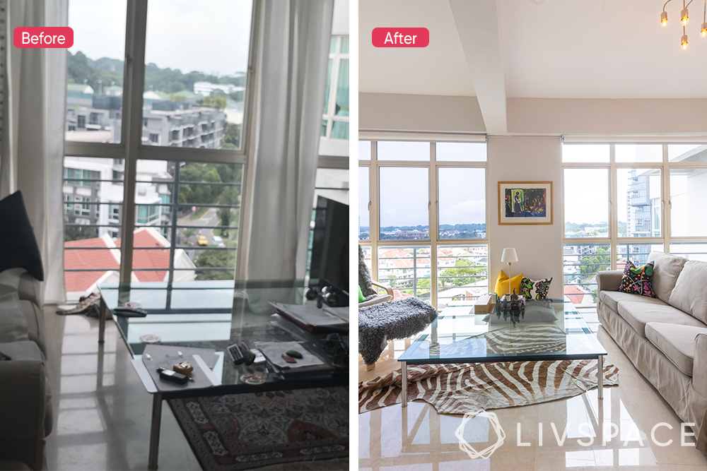 2-bedroom-condo-before-after-living-room
