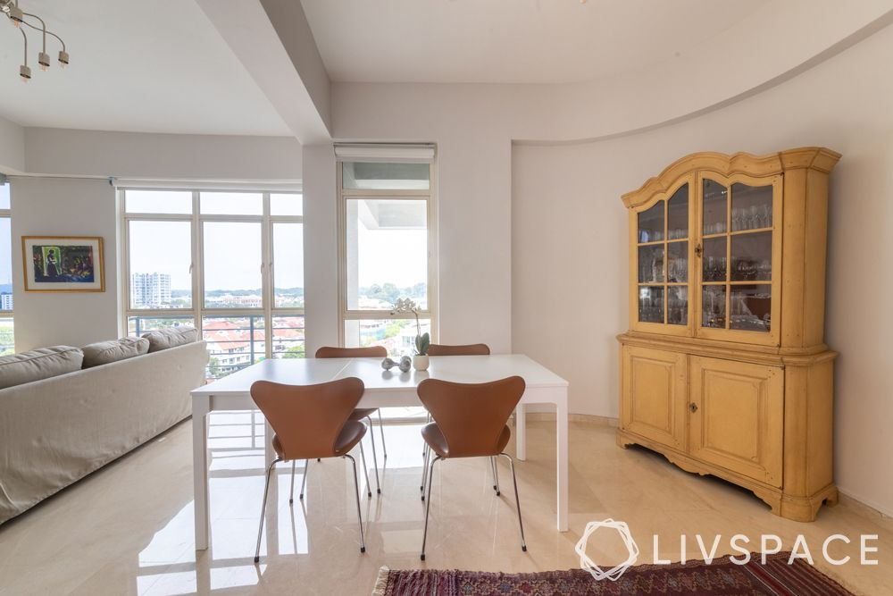 2-bedroom-condo-dining-table-crockery-unit